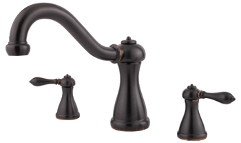 Price Pfister RT6-5MXY Marielle Two-Handle Roman Tub Faucet Trim Tuscan Bronze (Less Handles)