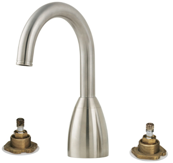 Price Pfister RT6-5NXK Contempra Two-Handle Roman Tub Faucet Trim Brushed Nickel (Less Handles)