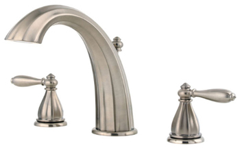 Price Pfister RT6-5RPK Portola Two-Handle Roman Tub Faucet Trim Brushed Nickel
