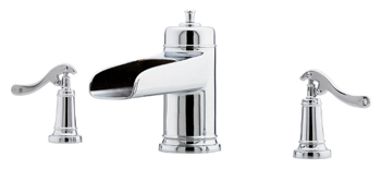 Price Pfister RT6-5YPC Ashfield Two-Handle Roman Tub Faucet Trim Chrome (Less Handles)
