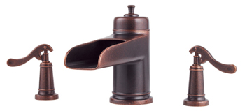 Price Pfister RT6-5YPU Ashfield Two-Handle Roman Tub Faucet Trim Rustic Bronze (Less Handles)