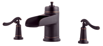 Price Pfister RT6-5YPY Ashfield Two-Handle Roman Tub Faucet Trim Tuscan Bronze (Less Handles)