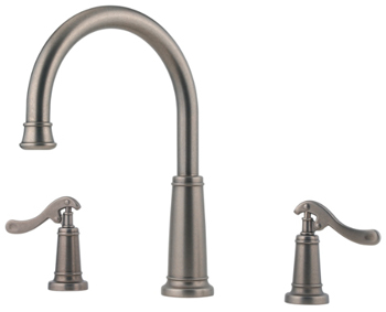 Price Pfister RT6-YP5E Ashfield Two-Handle Roman Tub Faucet Trim Rustic Pewter (Less Handles)