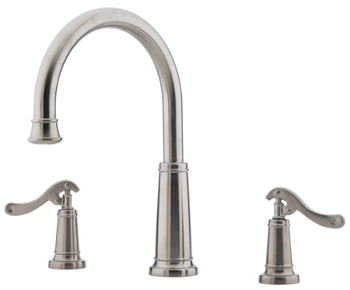 Price Pfister RT6-YP5K Ashfield Two-Handle Roman Tub Faucet Trim Brushed Nickel (Less Handles)