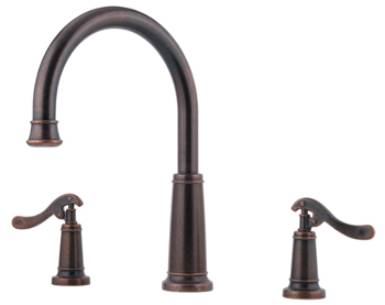 Price Pfister RT6-YP5U Ashfield Two-Handle Roman Tub Faucet Trim Rustic Bronze (Less Handles)