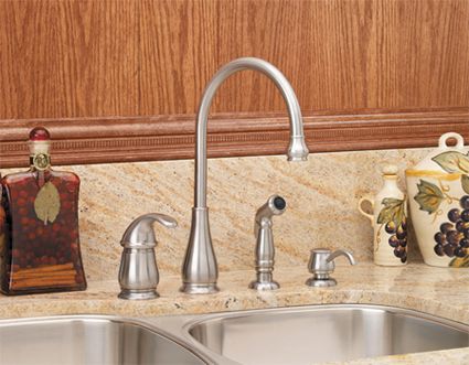 price pfister gt26 4dss treviso single handle kitchen faucet with