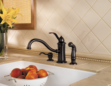 Price Pfister 34-4TYY Marielle Single-Handle Kitchen Faucet w// Side Sprayer