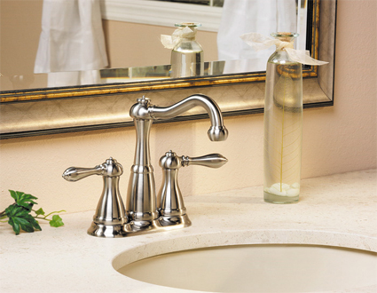 Pfister LG46-M0BK Marielle Centerset/Mini-Widespread Lavatory Faucet - Brushed Nickel