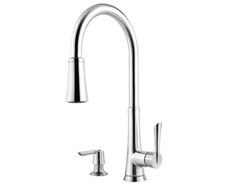 Price Pfister GT529-MDC Mystique Single Handle Pull-Down Kitchen Faucet Chrome