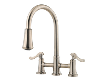 Price Pfister GT531-YPK Ashfield Pull-Down Kitchen Faucet Brushed Nickel