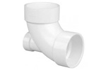 PVC DWV 90 Elbows with Low Heel Inlet