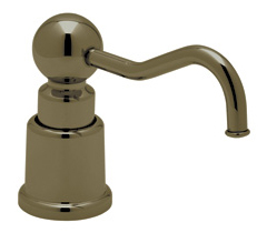 Rohl LS650CTCB Country Soap/Lotion Dispenser - Tuscan Brass