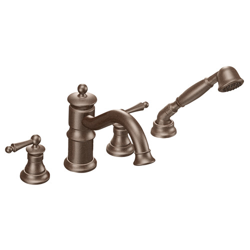 Moen ShowHouse TS213ORB Waterhill Two Handle Roman Tub Faucet Trim with Hand Shower Oil Rubbed Bronze