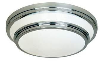 Belle Foret BF7200-02 Contemporary/ Modern Round Flushmount Ceiling Light - Satin Nickel (Pictured in Polished Chrome)