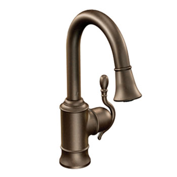 Moen Showhouse S6208ORB Woodmere Kitchen Single Handle Pulldown Faucet - Oil Rubbed Bronze