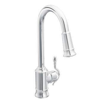 Moen Showhouse S7208C Woodmere Single Handle/Hole High Arc Pulldown Kitchen Faucet - Chrome