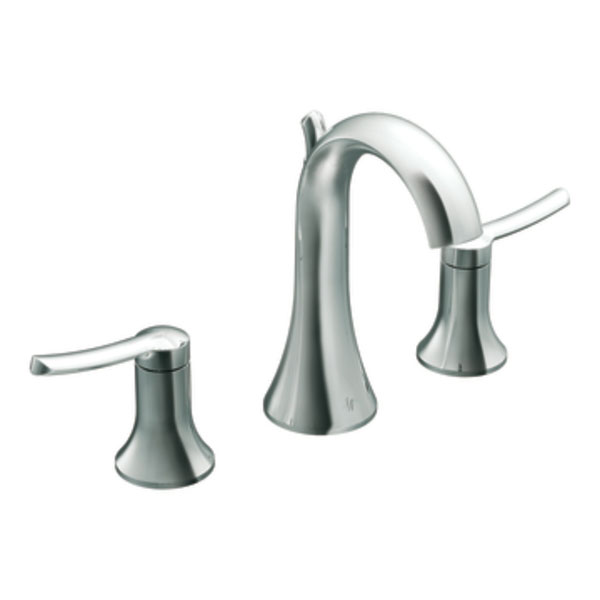 Moen Showhouse TS41708 Fina Two Handle Widespread Lavatory Faucet Trim with Metal Drain Assembly - Chrome