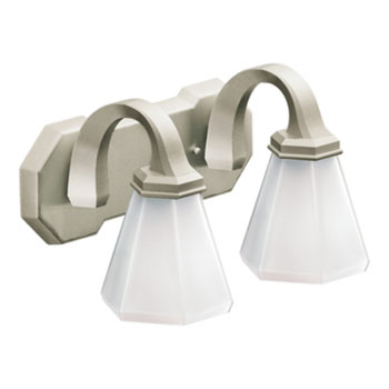 Moen Showhouse YB9762BN Felicity 2 Light Bathroom Fixture - Brushed Nickel