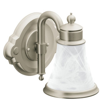Moen showhouse yb9861bn waterhill 1 light bathroom fixture for Showhouse faucets
