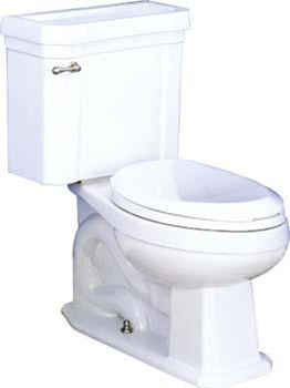 St. Thomas Creations 6125.030.01 Richmond II Chair-Height Elongated 2-Piece Water Closet - White
