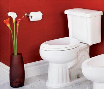 St. Thomas Creations 6127.030.01 Mayfair II Chair-Height Round 2-Piece Water Closet - White