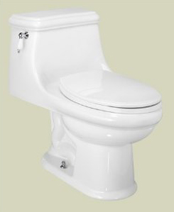 St. Thomas Creations 6131.128.06 Celebration 1-Piece Chair Height Elongated Toilet - Balsa (Pictured in White)