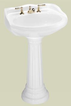 St. Thomas Creations 5120.080.01 Arlington Grande Lavatory Pedestal Sink Combo - White