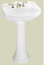 St Thomas Creations 5120.331.02 Vitreous China Pedestal Only - Bone (Pictured in White)