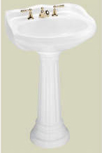 St. Thomas Creations 5120.331.01 Vitreous China Pedestal Only - White