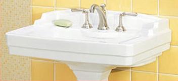 St. Thomas Creations 5122.082.01 Neo - Venetian Grande Pedestal Sink Basin - White