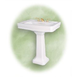 St. Thomas Creations 5124.080.01 Vitreous China Pedestal Sink - White