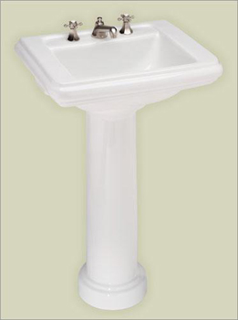 St. Thomas Creations 5131.080.01 Celebration Petite Pedestal Sink - White