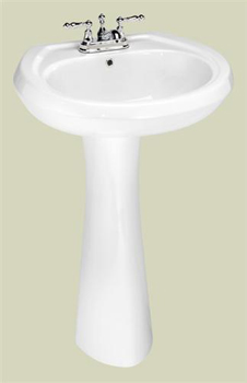 St. Thomas Creations 5137.040.01 Stafford Pedestal Lavatory - White