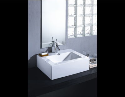St. Thomas Creations 5363.001.01 Above Counter Lavatory Bathroom Sink - White