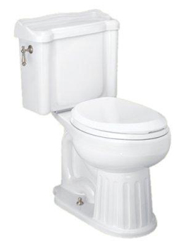 St. Thomas Creations 6119.010.01 Arlington II Round Front 2-Piece Water Closet - White