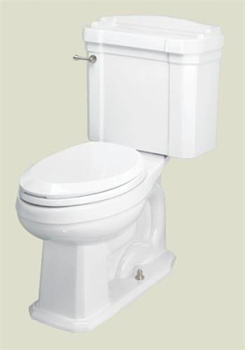 St. Thomas Creations 6123.030.01 Neo-Venetian II Chair-Height Round 2-Piece Water Closet - White
