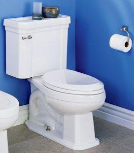 St. Thomas Creations 6125.010.01 Richmond II Round Front 2-Piece Water Closet - White