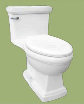 St. Thomas Creations 6401.128.01 Presley One-Piece Chair-Height Elongated Toilet - White