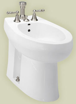 St. Thomas Creations 7106.003.01 Nouveau Elongated Vertical Spray Bidet Less Faucet - White