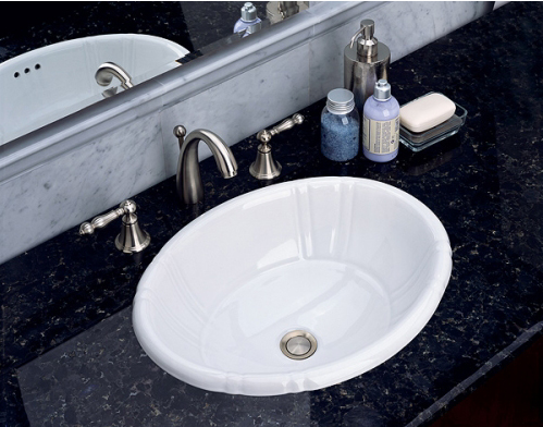 St. Thomas Creations 1002.000.01 Antigua Petite Countertop Lavatory Sink    White