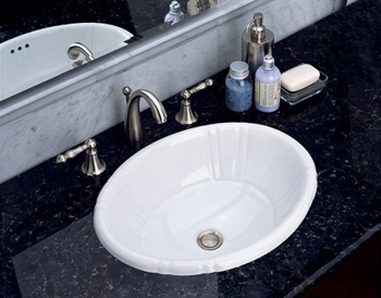 St. Thomas Creations 1002.000.01 Antigua Petite Countertop Lavatory Sink - White