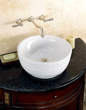 St. Thomas Creations 1012.000.06 Stratus Vessel Lavatory Sink - Balsa (Pictured in White)
