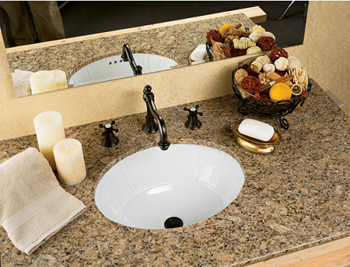 St. Thomas Creations 1020.000.06 Antigua Petite Undermount Bathroom Sink - Balsa (Pictured in White)