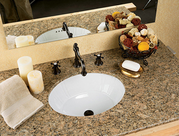 St. Thomas Creations 1022.000.01 Antigua Medium Undermount Bathroom Sink - White