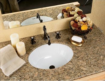 St. Thomas Creations 1030.000.06 Antigua Undermount Lavatory Sink - Balsa (Pictured in White)