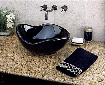 St. Thomas Creations 1047.000.01 Caterina Vessel Sink - White (Pictured in Black)