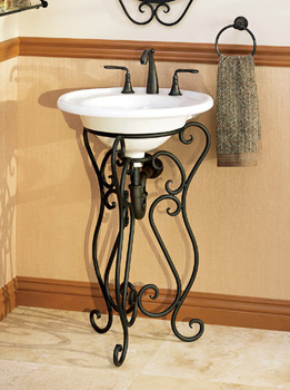 St. Thomas Creations 1048.080.02 Granada St. Lucia Pedestal Lavatory Sink - Bone (Pictured in White)