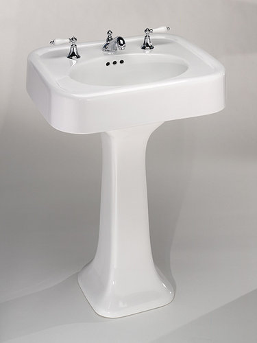Attirant St. Thomas Creations 5020.122.01 Liberty Pedestal Sink Basin Only   White