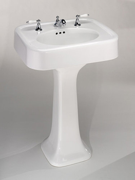 St. Thomas Creations 5020.331.01 Liberty Pedestal Sink - Pedestal Only - White
