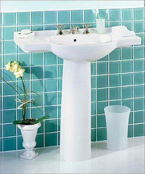 St. Thomas Creations 5035.082.01 Palermo Pedestal Sink Basin Only - White